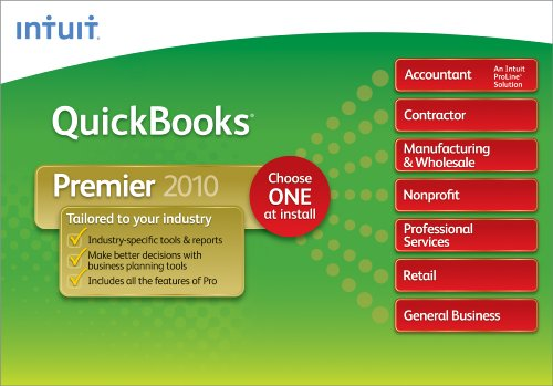 QuickBooks Premier Industry Editions 2010   [Download]