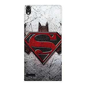Ajay Enterprises Shade Day vs Knights Back Case Cover for Ascend P6