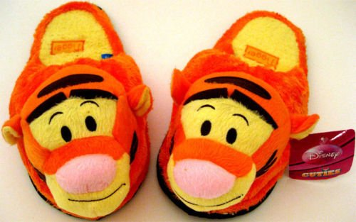 DISNEY WINNIE THE POOH TIGGER Boys Girl Slippers Soft Plush Stuffed Cuddly Toys Mens Womens Ladies Childrens Kids Toy