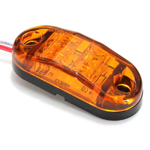Top Brand Led Side Marker Light Car Trailers Rv Clearance Lamp E-Marked Dot-Amber
