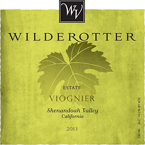 2013 Wilderotter Vineyard Shenandoah Valley California Viognier 750 Ml