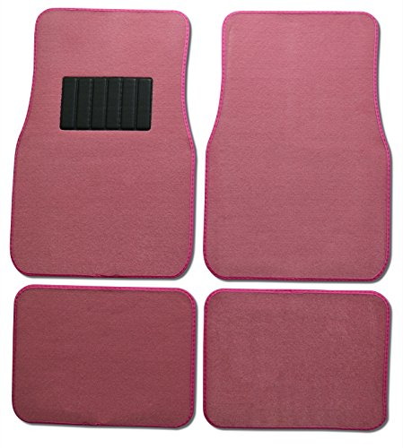 Front & Rear Carpet Car Truck Suv All Weather Carpet Floor Mats In Pink Color By Usa Cash And Carry front-309890