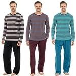 Mens Pyjamas Nightwear Long Sleeve To...