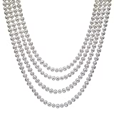 "HinsonGayle AAA Handpicked 6.5-7 White Freshwater Cultured Pearl Rope Necklace 82"" Endless Strand"
