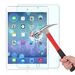 [Scratch Proof]iPad Air / iPad Air 2 Glass Screen Protector, OuTera 0.33mm 9H High Defintion (HD) Bubble-free Screen Protectors Protector Eyes 99% Touch-screen Accurate for Ipad Air / Air 2