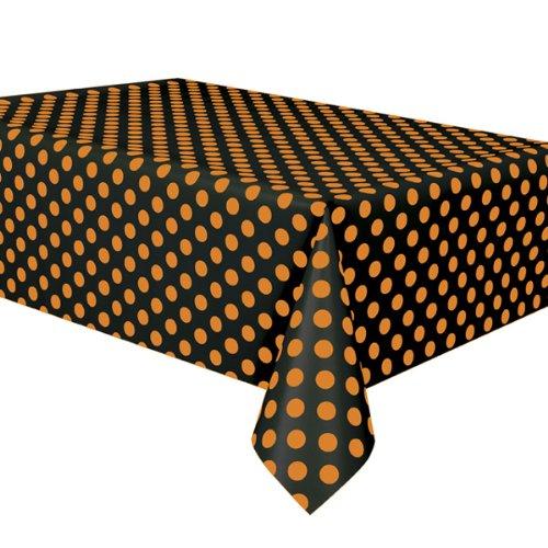 Orange-Black Dots Tablecover 3 Pack
