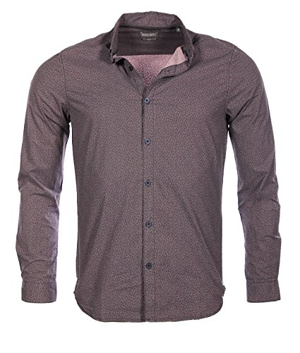 Kaporal-Camicia a punto Uomo Misk Slim Fit Inverno 2017 grigio XL