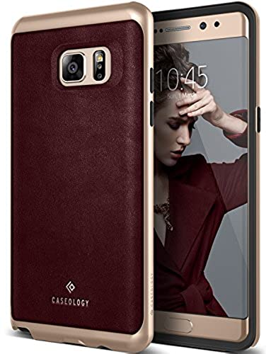 02. Galaxy Note 7 Case, Caseology [Envoy Series] Classic Rich Texture PU Leather [Leather Cherry Oak] [Luxury Slim] for Samsung Galaxy Note 7 (2016)