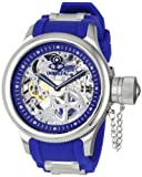Invicta Men's 1089 Russian Diver Mechanical Skeleton Dial Blue Polyurethane Watch
