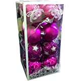 Christmas Decoration - Exclusive Multicolor Glitter Balls - Set Of 16