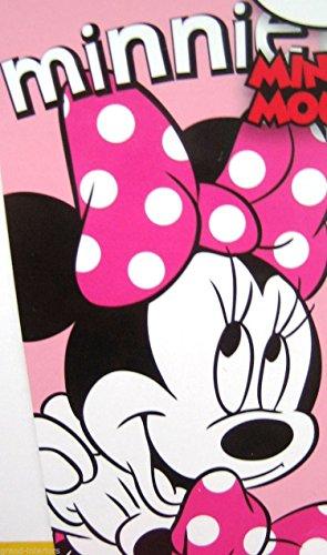 Ufficiale con licenza bambini Disney Minnie Mouse nero rosa seduta spiaggia asciugamano/doccia.