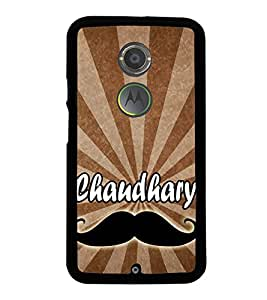 Chaudhary 2D Hard Polycarbonate Designer Back Case Cover for Motorola Moto X2 :: Motorola Moto X (2nd Gen) :: Motorola Moto X 2014 :: Motorola Moto X+1
