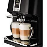 KRUPS EA8808 2-IN-1 Touch Cappuccino Fully Automatic Espresso Machine, 57-Ounce, Black