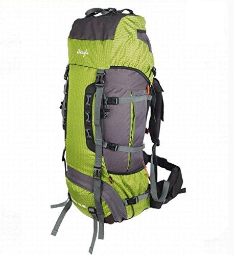 all'aperto alpinismo zaino borsa a tracolla uomini e donne 85L borsa da viaggio impermeabile capacità professionale , green