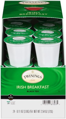 Twinings Of London K-Cup Portion Pack For Keurig K-Cup Brewers Breakfast Tea, Irish, 96 Count