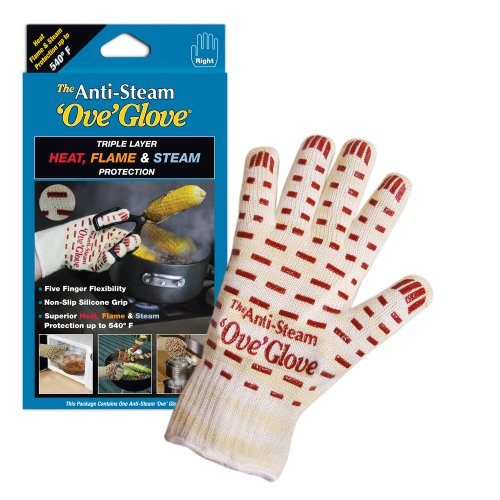 Ove Glove The Anti Steam Ove Glove Right Hand, Yellow w/ White