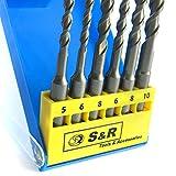 SR-Hammerbohrer-SDS-Bohrer-Set-Betonbohrer-SDS-Plus-6-tlg-568-x-110mm-6-8-10-x-160-mm-in-Kunststoffbox-fr-BetonGranit-Stein-Bohrer-fr-Bohrhammer-und-Schlag-Bohrmaschine