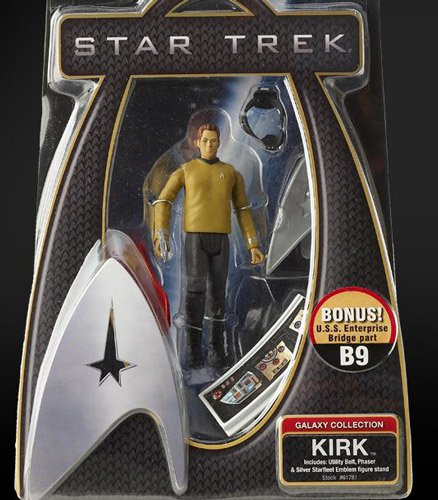 Buy Low Price Playmates Kirk of 2009 Star Trek Movie- Single Figure Galaxy Collection (B002XVC3UY)