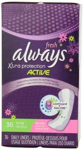 Always Xtra Protection Long Daily Liners Fresh Scented 36 Count