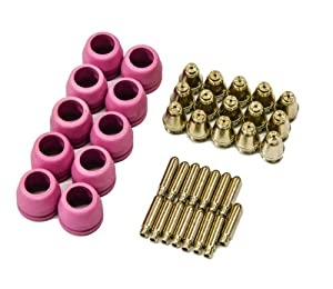 PCON40 40 pcs Lotos plasma cutter consumables nozzle electrode and cup for LTP5000D, LTP5000 LTPDC2000, LTPDC2000D and LTPAC2500 from Lotos Technology