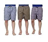 #6: Boxer Men's Sports Cotton Shorts Pack of 3 (Small, Multicolour)