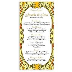 25 Wedding Menu Cards - Imperial