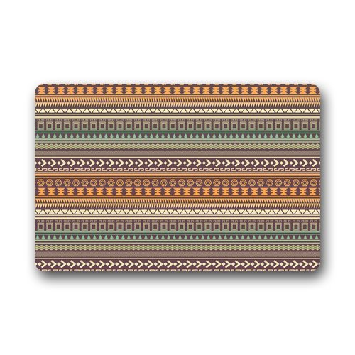 "Anhome Retro Aztec Tribal Geometric Print Doormats 23.6""X 15.7"" front-977887"