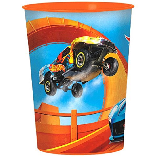 Amscan Fast Riding Hot Wheels Wild Racer Birthday Party Favor Cup, 16 oz, Multicolor