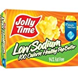 Jolly Time Microwave Popcorn, 100 Calorie Healthy Pop Butter, Low Sodium, 4-Count Boxes (Pack of 12)