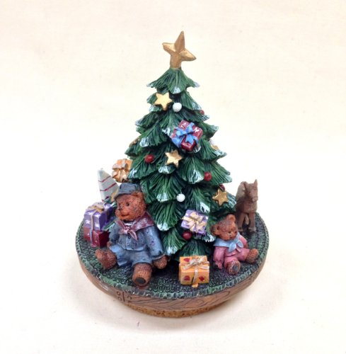 CHRISTMAS TREE, YANKEE/ CANDLE JAR TOPPER 4 7/8