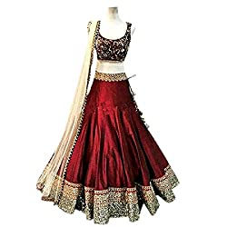 BT creation Beauty Maroon silk new designer Lehenga