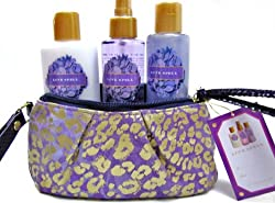 Victoria's Secret Love Spell 3 Pieces Set with Purple Wristlet