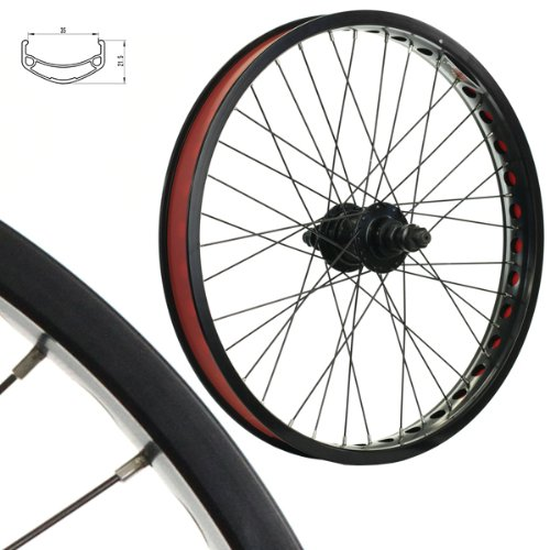 Stars-Cirle BMX BIKE Wheels Wheelset Oversized 20 Inch Black (Bmx Rims 20 Inch Front And Back compare prices)