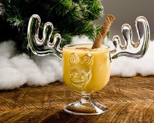 Christmas Eggnog Moose Mugs - Gift Boxed Set of 2 - Safer Than Glass