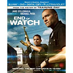 End of Watch (Two-Disc Combo Pack: Blu-ray + DVD + Digital Copy + UltraViolet)