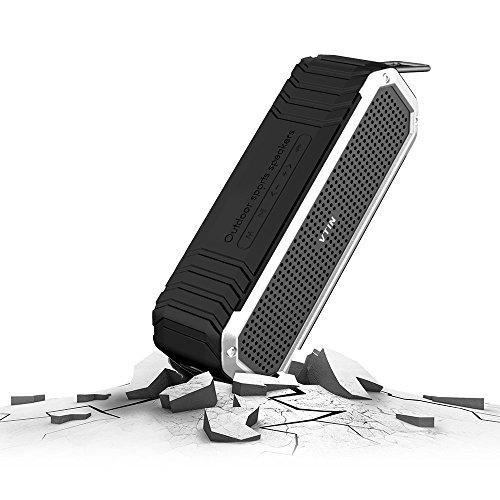 Bocina Vtin Bluetooth 4.0 contra agua y  para uso en el exterior con micrófono incorporado y luz LED para iPhone, Samsung y otros teléfonos ingeligentes