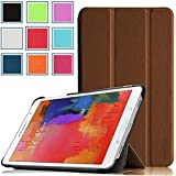 Pellem 2014SCBR Samsung Galaxy Tab Pro 8.4 Case - Ultra Slim Lightweight SmartCover Stand Case for SM-T320 / T321 / T325 Samsung Galaxy Tab Pro 8.4 Inchs Tablet (With Smart Cover Auto Wake/Sleep), Brown