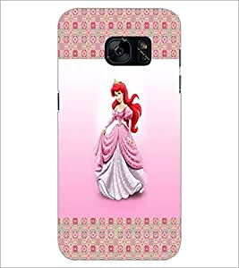 PrintDhaba Princess D-4565 Back Case Cover for SAMSUNG GALAXY S7 (Multi-Coloured)
