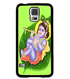 Fuson Premium Little Krishna Metal Printed with Hard Plastic Back Case Cover for Samsung Galaxy S5 Mini