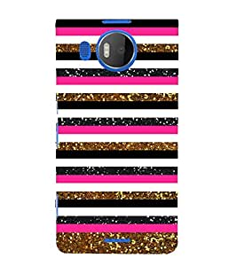 Gold Pink Night Sky 3D Hard Polycarbonate Designer Back Case Cover for Nokia Lumia 950 XL :: Microsoft Lumia 950 XL