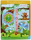 Baby Watch - Abc Ourson - Montre Fille - Quartz Pédagogique 3-6 ans - Cadran Bleu - Bracelet Plastique Rose