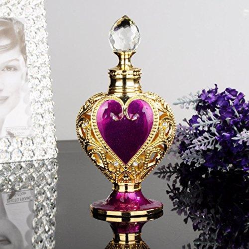 YUFENG Heart Shape Enameled Empty Refillable 8ML Perfume Bottle (Purple) 4