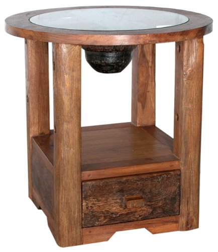 Cheap Desperado End Table with Glass (B001KDBZZK)
