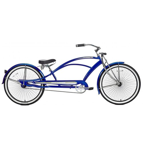 Micargi Mustang GTS Beach Cruiser Bike, Blue, 26-Inch