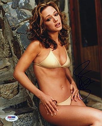 Leah remini sexy bikini signed autographed 8x10 photo psa dna