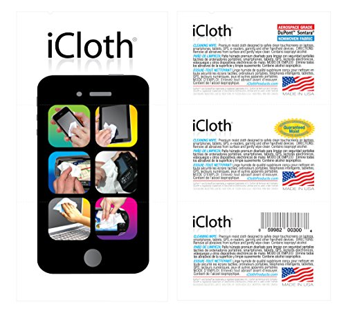 iCloth Touchscreen Cleaning Wipes iC3x50 instantly clean iPad