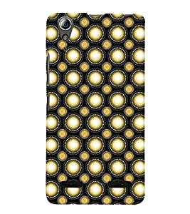 Fuson Premium Back Case Cover Polka dots pattern With red Background Degined For Lenovo A6000 Plus