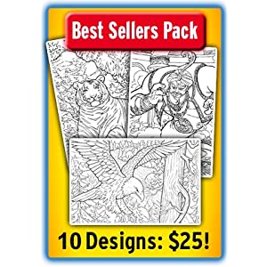 Line Art Bundle - 10 Poster Best Sellers Pack