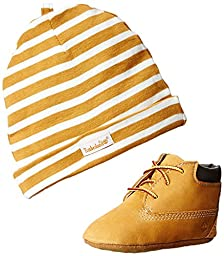 Timberland Crib With Hat Bootie (Infant/Toddler),Wheat,0 M US Infant