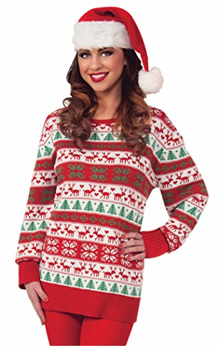 Forum Novelties Men's Plus-Size Winter Wonderland Novelty Christmas Sweater